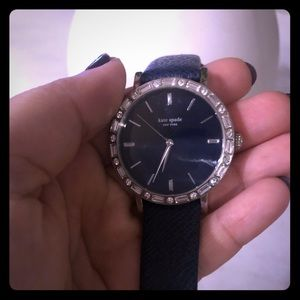 Kate Spade Navy Leather Watch